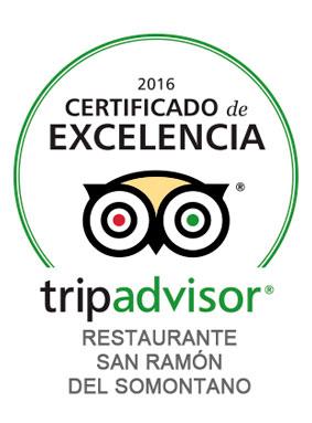 Restaurante ganador certificado excelencia tripadvisor 2014