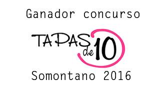 Premio concurso tapas somontano 2016