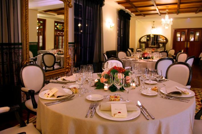 Bodas, decoración mesas 1 Restaurante San Ramón