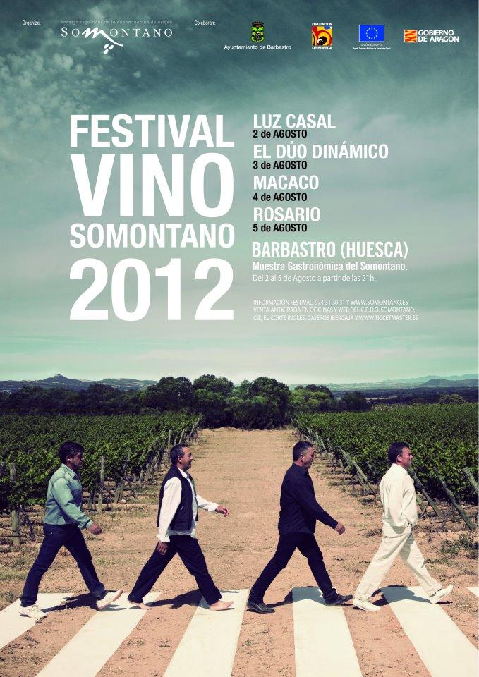 CARTEL 2012 FESTIVAL VINO SOMONTANO