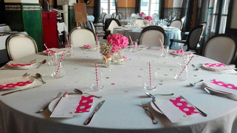 Comunión Barbastro decoración mesas - Restaurante San Ramón