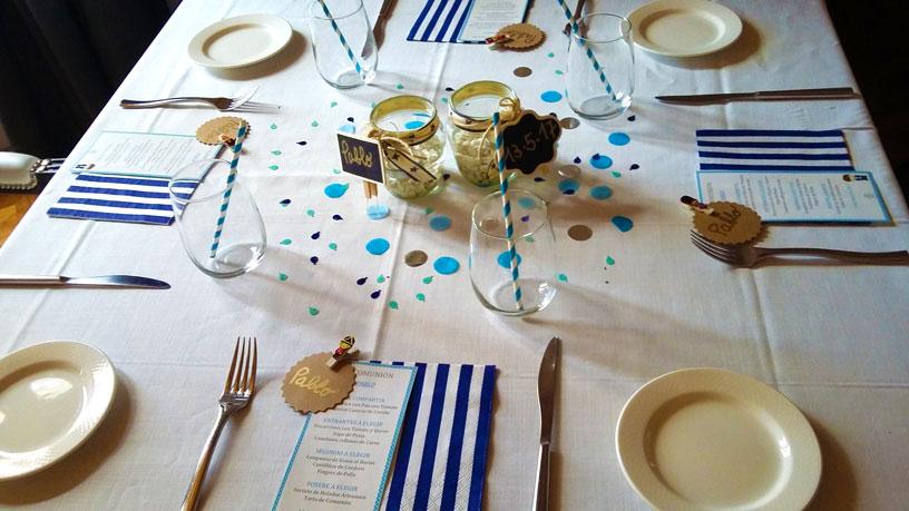 Decoración mesas Comunión 2018 en Barbastro - Restaurante San Ramón