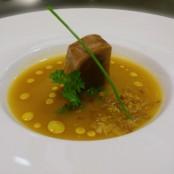 Crema de Marmitaco con Tataki de Atún