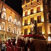 Semana Santa Barbastro, procesión nocturna Paseo del Coso