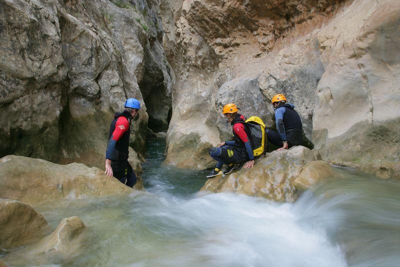 Canyoning. Imagen del archivo de la comarca del Somontano