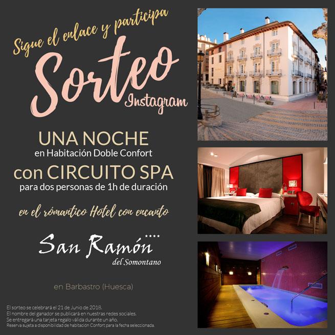 Sorteo Noche de hotel + circuito spa día San Ramón 2018