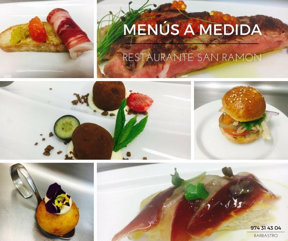Menús personalizados restaurante San Ramón