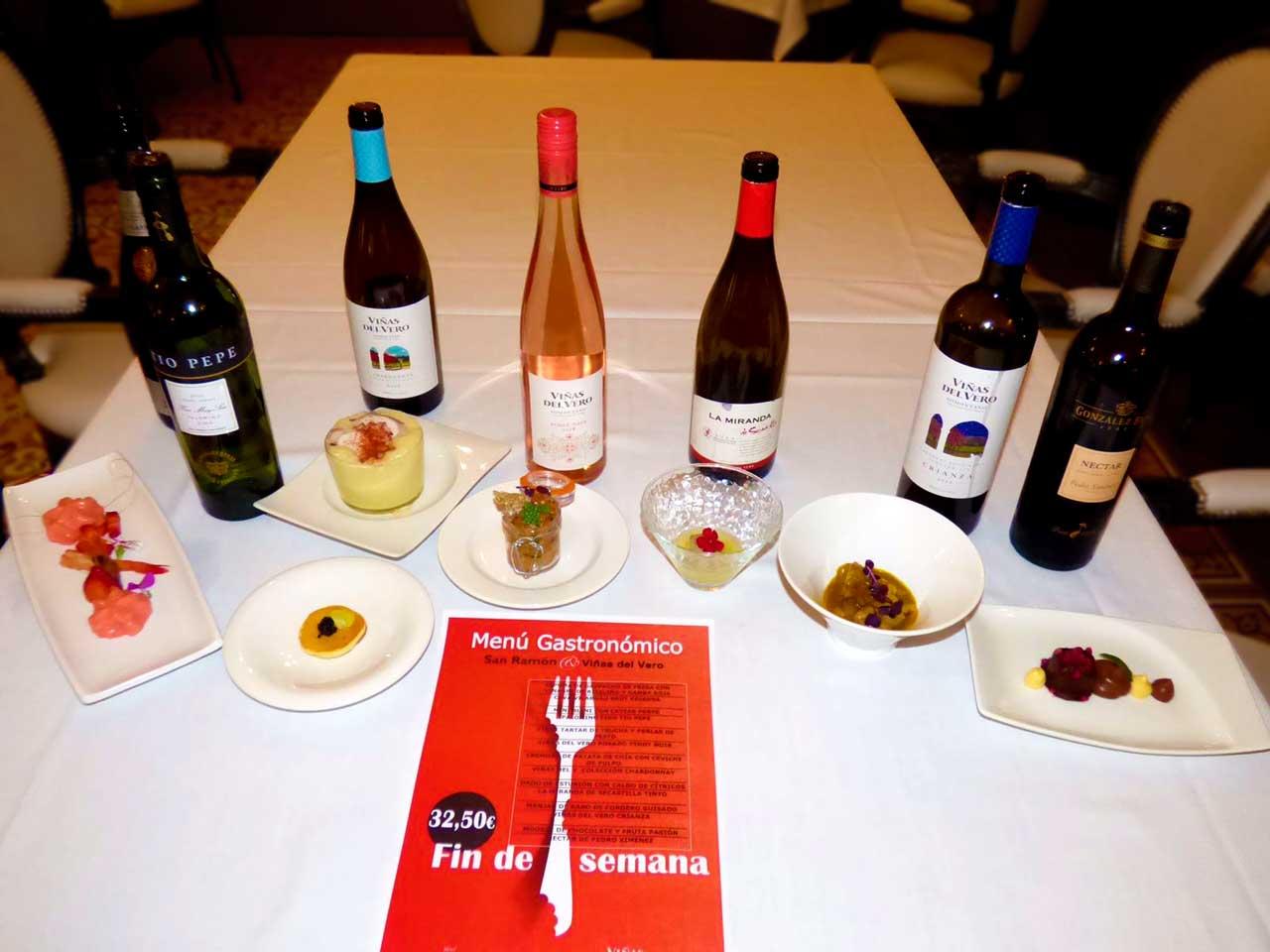Menú Gastronómico Restaurante San Ramón y Viñas del Vero