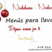 Menú para llevar Nochebuena – Nochevieja Restaurante San Ramon especial Barbastro.