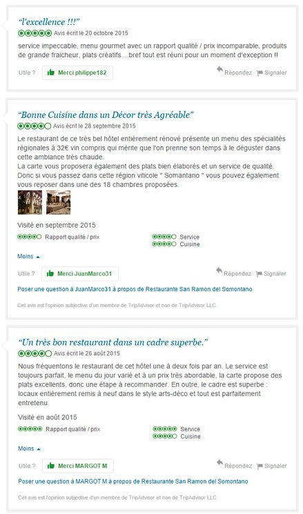 Reviews Tripadvisor French