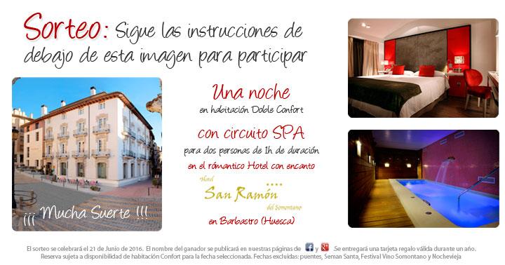 Sorteo Noche de Hotel + Circuito Spa día de San Ramón