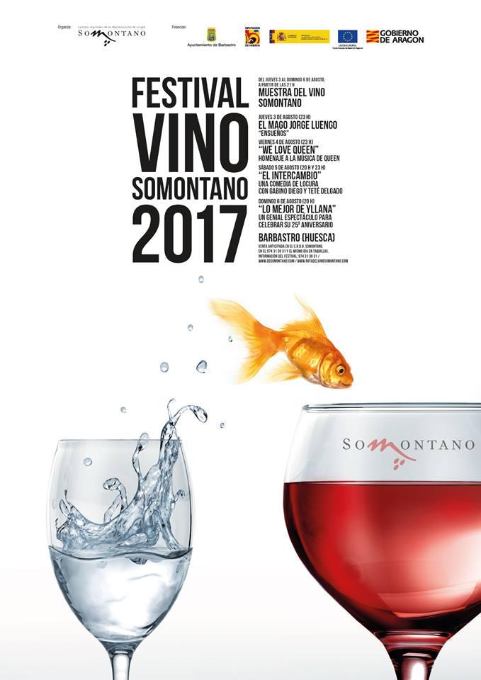 Cartel Festival Vino Somontano 2017