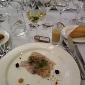 Cena Maridaje Restaurante San Ramón & Bodegas Enate: Sopita de leche de tigre acompañada de Ceviche de corvina Salvaje