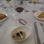 Cena Maridaje Restaurante San Ramón & Bodegas Enate: Arroz Carnaroli con Boletus Edulis laminados y Foie