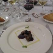 Cena Maridaje Restaurante San Ramón & Bodegas Enate: Lagarto de cerdo ibérico a la parrilla con suave salsa de ciruelas