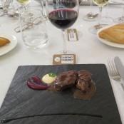 Cena Maridaje Restaurante San Ramón & Bodegas Enate: Lomo de Venado sangrante con suave salsa de regaliz