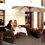 Opción de desayunar en terraza
