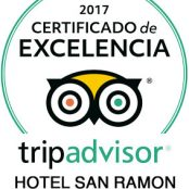 "One more year, in 2017, the Hotel San Ramón obtains the ""Tripadvisor Certificate of Excellence"""
