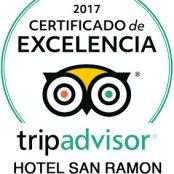 Un año más, en 2017, el Hotel San Ramón obtiene el «Certificado de Excelencia Tripadvisor»