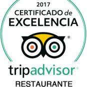En 2017, el Restaurante San Ramón galardonado de nuevo con el «Certificado de Excelencia Tripadvisor»
