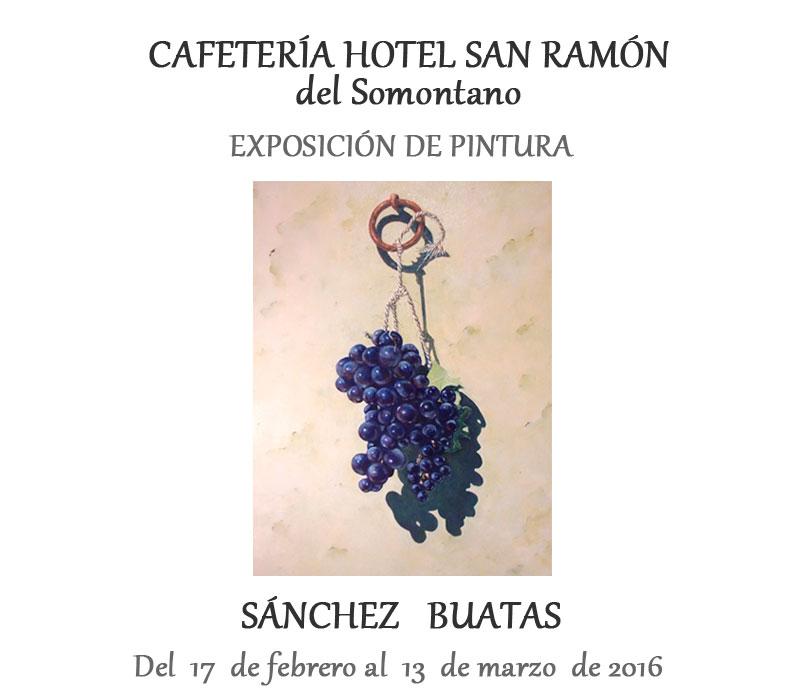 Exposición de pintura Sánchez Buatas en la cafeteria del Hotel San Ramón