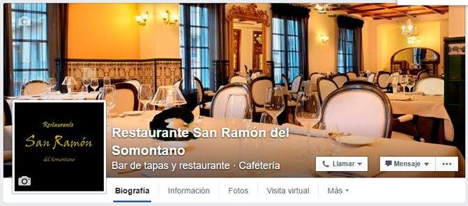 Facebook Restaurante San Ramón del Somontano de Barbastro