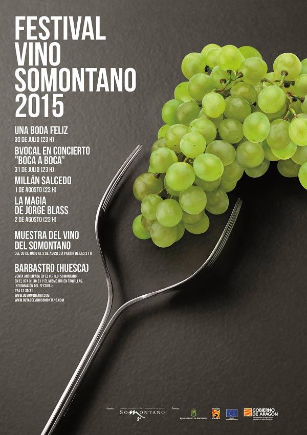 Cartel Festival Vino Somontano 2015