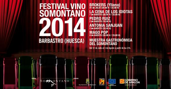 Cartel Festivales Vino Somontano 2014