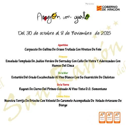 Manú Aragón con gusto 2015 Restaurante San Ramón Barbastro