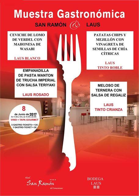 Muestra Gastronómica San Ramón & Bodega Laus 8 de Junio de 2017