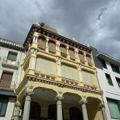 Detalle de la Plaza del Mercado de Barbastro. Imagen del Archivo fotográfico del Gobierno de Aragón-