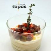 """Premio mejor tapa vanguardista del Concurso de Tapas del Somontano 2014: """"Chawanmushi de ternera a la jardinera"""""""