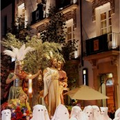 Semana Santa Barbastro, vistas procesión desde el Hotel San Ramón